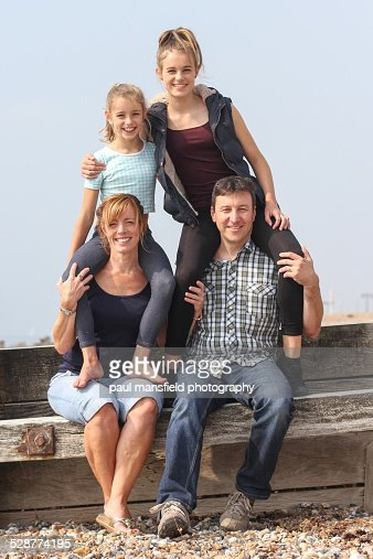 Family portrait at beach