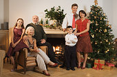 Family portrait at Christmas