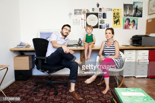 Family Portrait in hip home office
