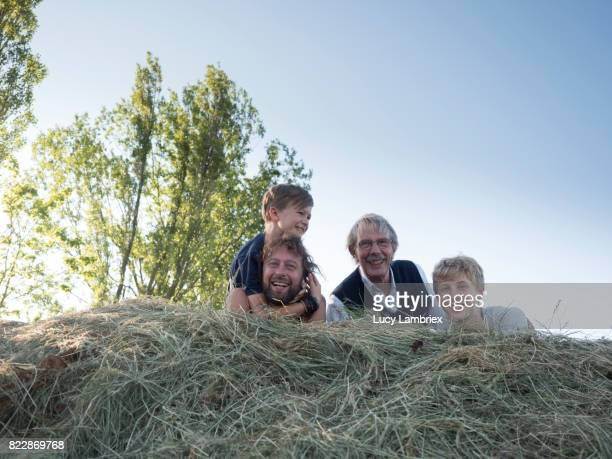 Family portrait in the haystack
