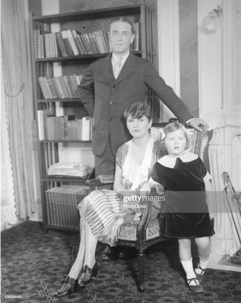 Family portrait of the writer F Scott Fitzgerald (1896 - 1940), his wife Zelda (1900 - 1948), and daughter Frances 'Scottie' Fitzgerald, 1925.