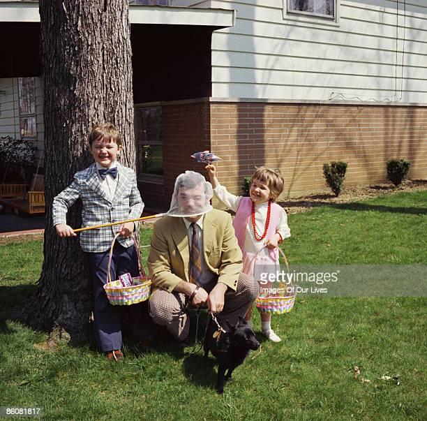 Family portrait on easter