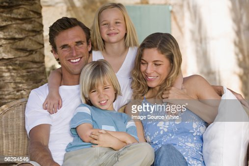 Family portrait : Foto de stock