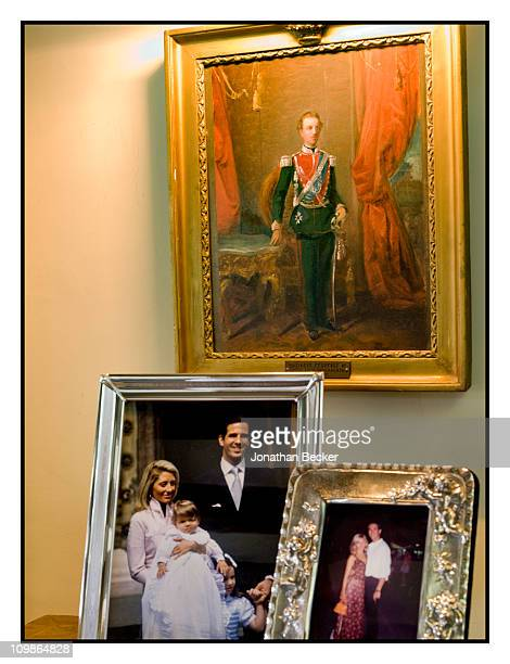 Family portraits of Prince Pavlos of Greece and Princess MarieChantal are photographed at their home 'Beale House' for Vanity Fair Spain on May 23...