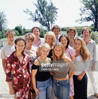 Family posing for photograph, portrait : Stock Photo