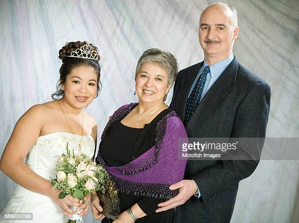 Family Posing for Quinceanera Portrait