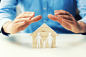 family property, life and health insurance concept