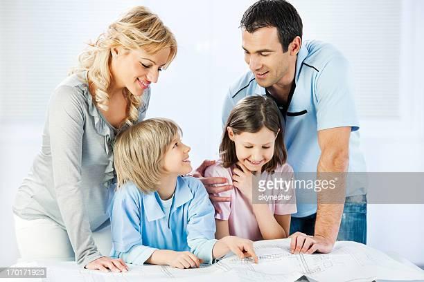 Famille lecture de plan