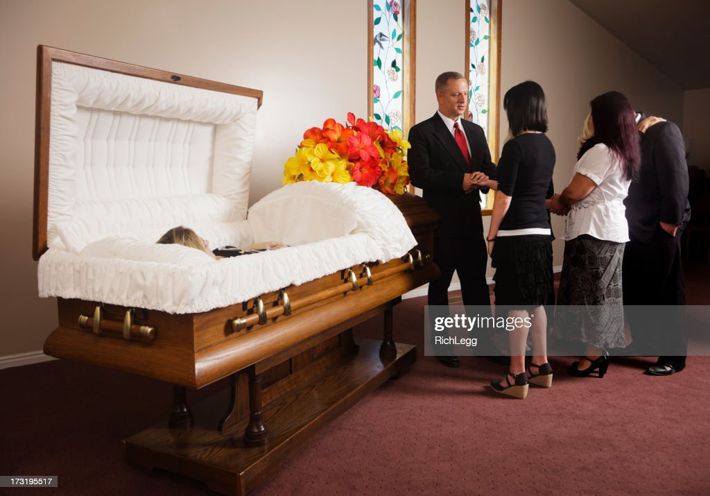 Family Receiving Guests at a Funeral