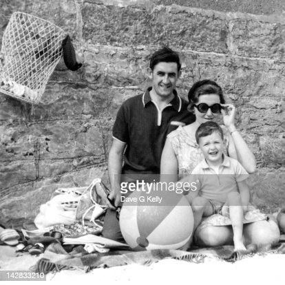 Family relaxing at beach
