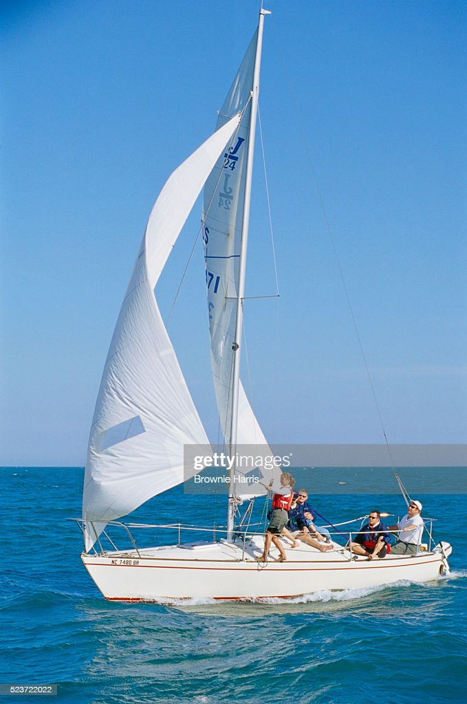 Family Riding Sailboat
