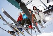 Family Riding Ski Lift