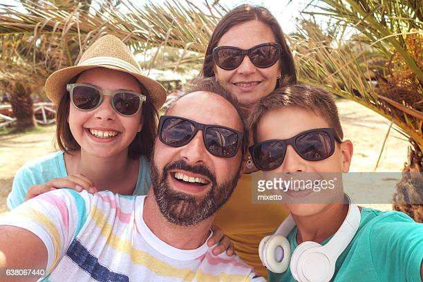 Família uma selfie
