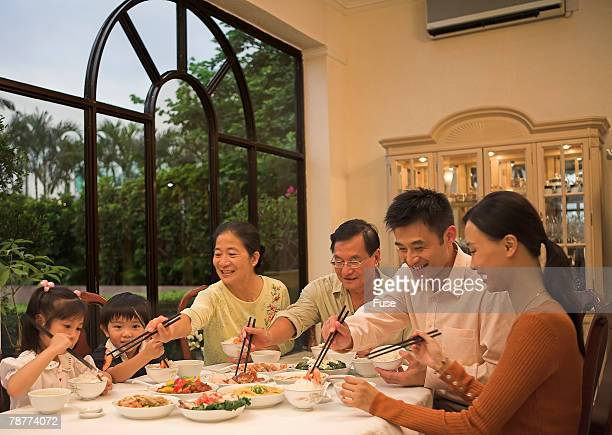 Family Sharing a Meal