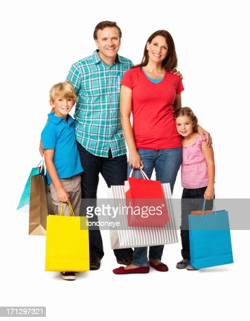 Family Shopping Isolated Stock Photo | Getty Images