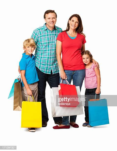 Familie einkaufen-isoliert