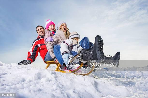 Family sledging.