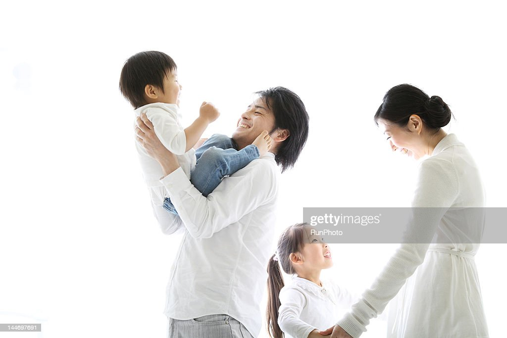 family smiling : Stock Photo