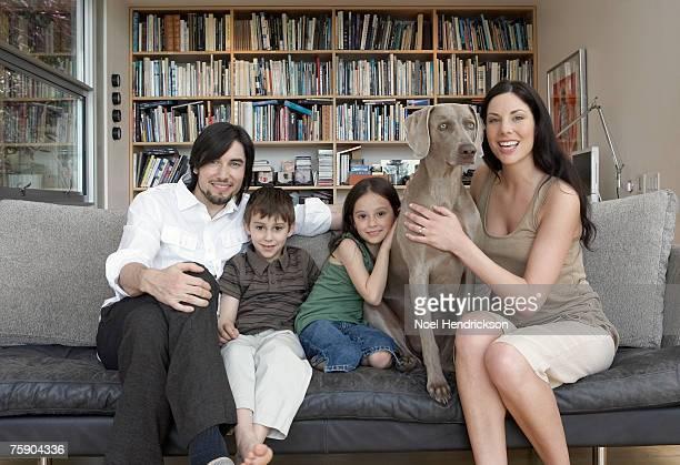 Family smiling, portrait