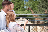 Family spending day at the zoo