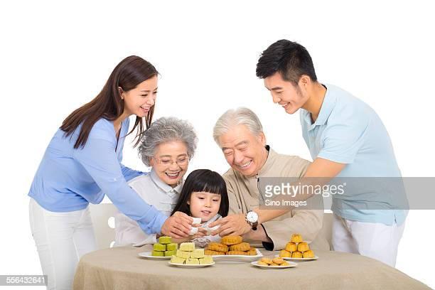 Family Spending Mid-Autumn Festival