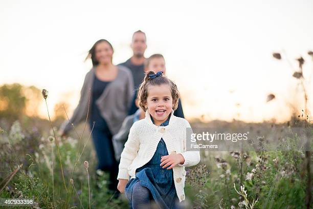 Family Spending Time Together Outdoors