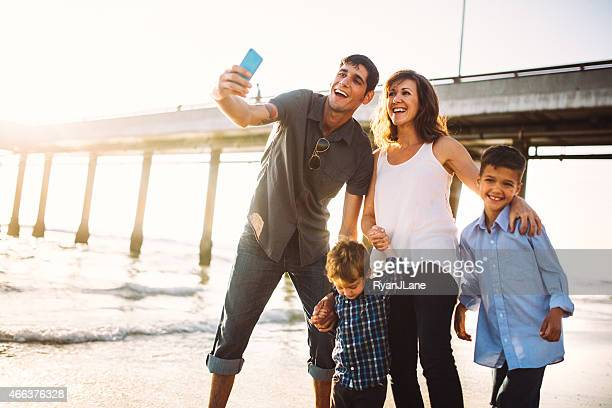 Family Taking Selfie at Venice Beach