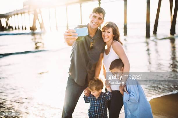 Family Taking Selfie at Venice Beach