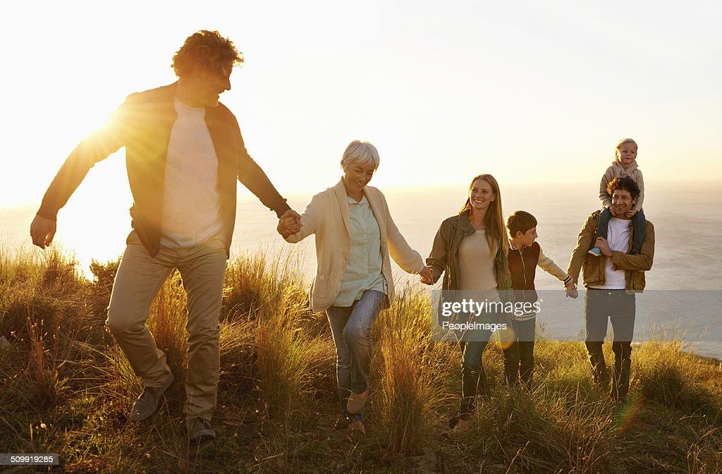 Family teamwork : Stock Photo