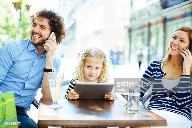 Familie Technologie das Leben im Freien.