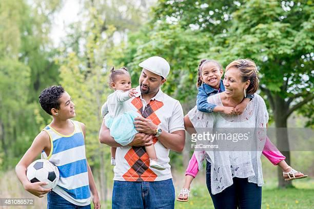 Moments en famille au parc