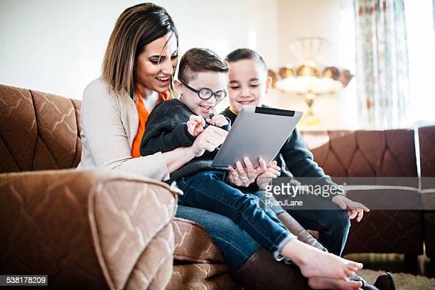Moments en famille sur Tablette numérique