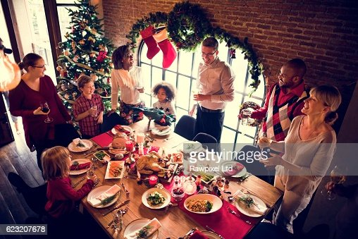 Family Together Christmas Celebration Concept : Stock-Foto
