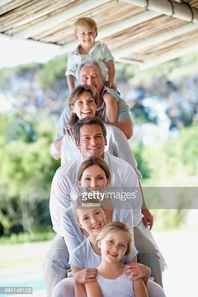 Family totem pole!
