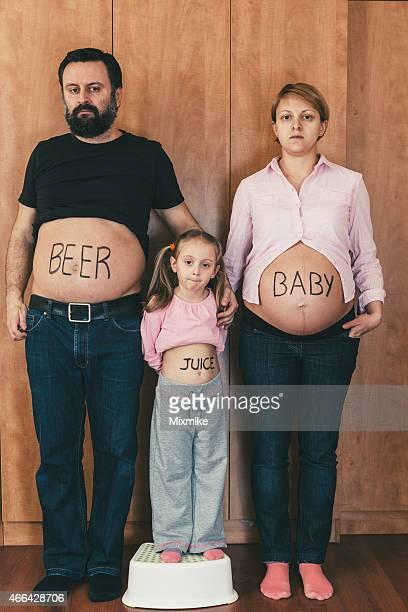 Family tummy portrait