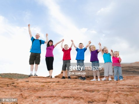 A family vacation at Red Rock : Stock Photo