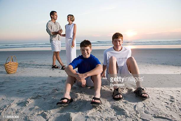 Family vacation at the beach