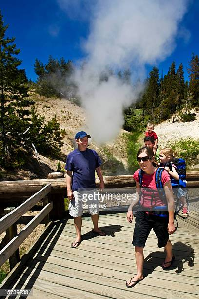Family Vacation at Yellowstone National Park.