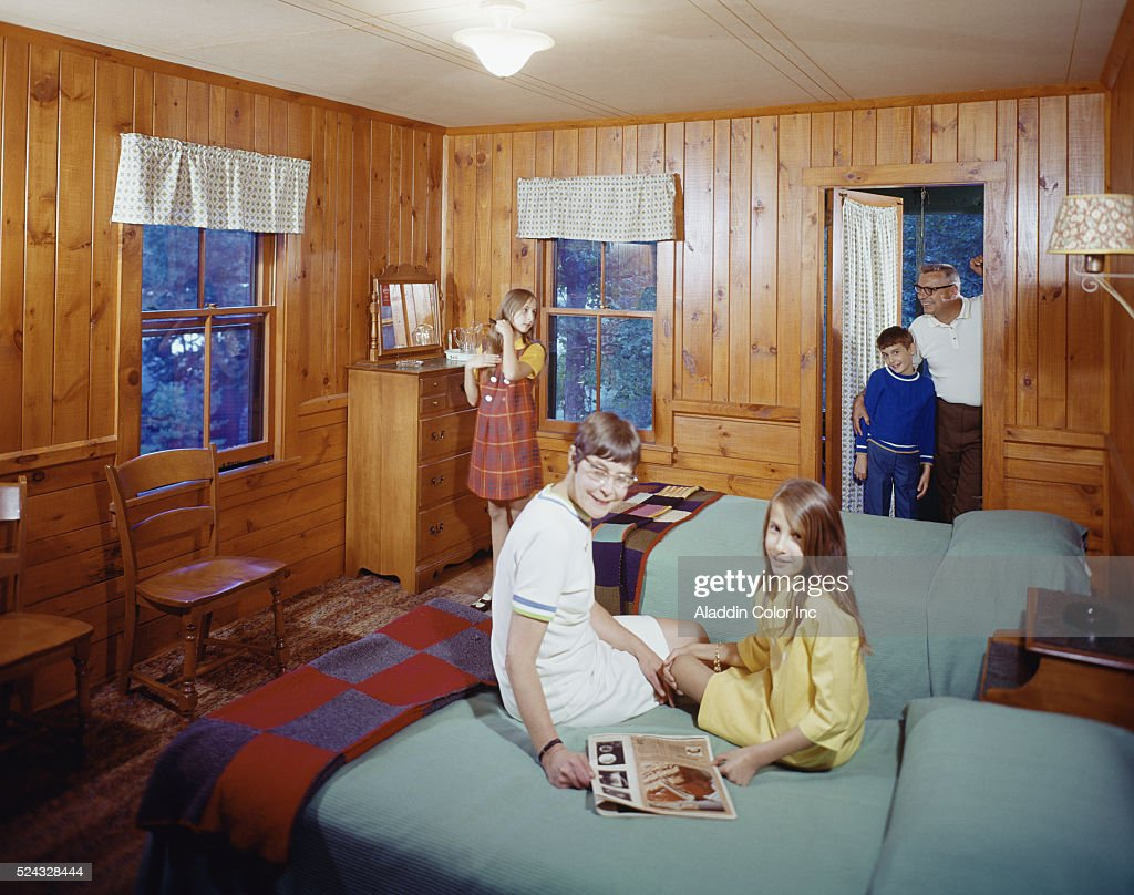 Family vacationing at the American Legion Mountain Resort in Tupper Lake New York
