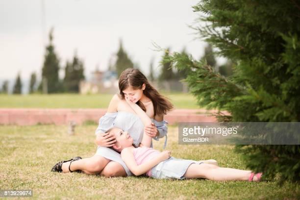 Valeurs familiales. Mère et fille