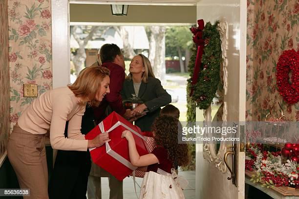 Family visiting at Christmas