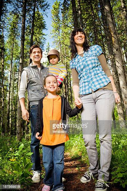 Family Walk in Nature Outdoors