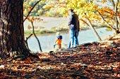 Autumn/fall family walk