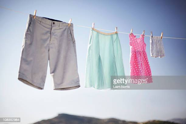 Family washing line
