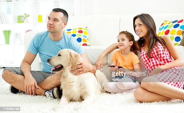 Family Watching TV.