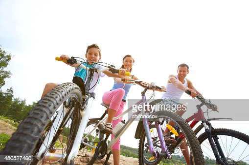 Family weekend outdoors : Stock Photo