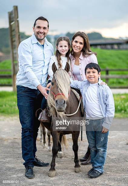 Family with a pony