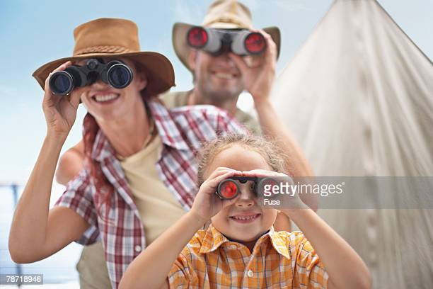 Family with Binoculars