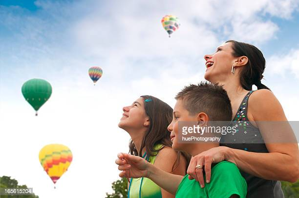 Family with Hot Air Balloons