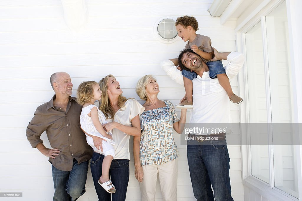 Family with two children : Stock Photo